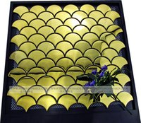 Wholesale fan shape fish scape shape metal mosaic tiles for background decoration