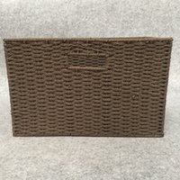 bamboo weaving material - Plastic storage bag woven baskets top handle bags Fruit And Vegetable Baske Design High Quality PP Material Storage Baskets