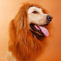 Wholesale Pet Costume Pet Dog Lion Wigs Mane Hair Festival Party Fancy Dress Halloween Costume pet lion hair pet hair accessories