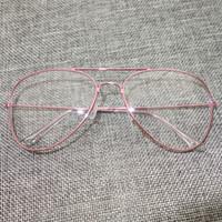 al por mayor lentes del marco de oro al por mayor-Venta al por mayor-claro gafas de lente de marco gafas de sol masculinas mujeres marca diseñador gafas gafas de oro gafas de oro gafas de color rosa claro