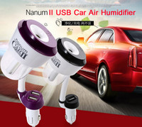 Wholesale Nanum II Upgraded V Car Humidifier Air Purifier Aroma Diffuser Essential oil diffuser Aromatherapy Mist Maker Fogger humidificador