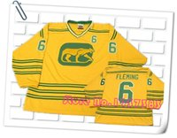 Wholesale 2016 New Design Style Chicago Cougars Hockey Jerseys Pullover Custom Yellow Stitched Jerseys Accept Any Name and Any Number