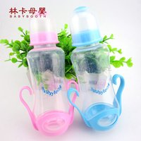 Wholesale New Plastic Baby Bottles of ml PP Material Safe Blue Pink Feeding Bottle