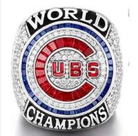 Compra Championship ring-2017 Anillo 2016 al por mayor del campeonato de la serie de mundo de Chicago Cubs (más de 20pcs DHL que envía libremente)