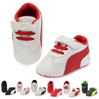 Wholesale New fashion PU baby shoes spell color toddler shoes sneakers color