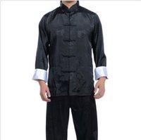 best silk pajamas - Hot Selling New Best Chinese men s Dress silk kung fu suit pajamas SZ M L XL XL XL