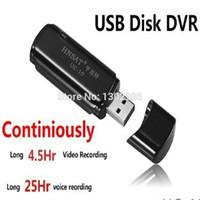 Vente en gros-FreeShipping 8 Go MINI DVR UC-10 disque USB enregistreur DVR Enregistreur AudioVideo Super (travaillant 4,5 heures)
