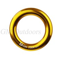 aluminum o ring - KN lbs Large Aluminum Rappel Ring Connect O Ring Bail Outs Rigging High Quality For Outdoor Rock Climbing Rigging