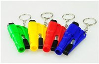 Wholesale car styling In Car Window Breaker emergency hammer Seat Belt Cutter Survival Whistle Mini Car Emergency Safety Tool auto escape tool