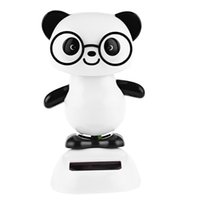Wholesale 2016 NEW Solar Energy Cute Shaking Panda House Decoration for Kids Excellent Christmas Gift Environment friendly Toy
