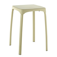 Wholesale Plastic Material Top Contracted Fashion Carbon Steel Square Stool Green