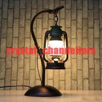 antique beds iron - Reminisced lamp vintage antique lamps iron kerosene lamp lantern led E27 table lamp
