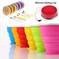Wholesale 1 Pieces New mL Vogue Outdoor Travel Silicone Retractable Folding Cup Telescopic Collapsible with Metal edge Hot Selling