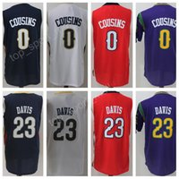 anthony for men - Men Basketball Jerseys Cheap DeMarcus Cousins Anthony Davis Jersey All Stitching For Sport Fans Navy Blue White Red Purple