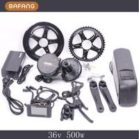 Wholesale 8fun bafang V W C965 BBS02 mid crank drive motor ebike kit V Ah lithium ion Bottle ebike battery Fedex Shipping