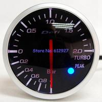 Wholesale mm Racing Car Defi BF Boost Pressure Meter Gauge with Sensor White Red LCD Light