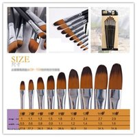 Wholesale Quality of the nine flat pen brush sets of duck tongue shaped watercolor watercolor acrylic paint brush