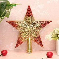 Christmas Tree Ornament table top accessories - Fashion Christmas Tree Top Decoration Star Topper For Xmas Home House Table Topper Decor Accessories Ornament For New Year