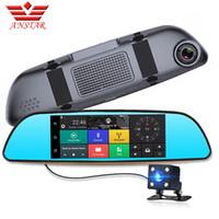 Precio de Cámaras de lentes de porcelana-ANSTAR 7 pulgadas 3G Car DVR Cámara GPS Bluetooth Dual Lente Retrovisor Espejo Vídeo FHD 1080P Automóvil DVR espejo Dash cámara de apoyo SIM