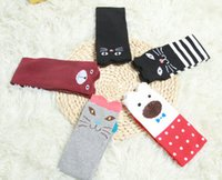 bear express - Girl Cartoon Animal Cat Bear Cotton Over Calf Knee High Socks Styles Christmas Gifts Wholsales Express Shipping