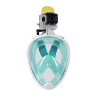 Precio de Camera underwater-2017 Marca de submarina de buceo Máscara Snorkel Set Natación Entrenamiento Scuba mergulho máscara de snorkeling de cara llena Niebla Anti Gopro Camera good qual