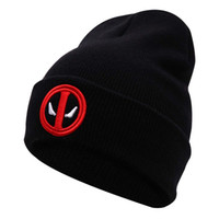 Wholesale Mens Sport Beanies Hat New Hot Selling Cotton Deadpool Winter Hat Embroidery Men And Women Hats Soft Solid Beanies Hip Hop Warm Knitted Caps