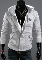 Wholesale Men s Winter Slim Hoodie Warm Hooded Sweatshirt Coat Jacket Outwear Sweater Zipper Pocket