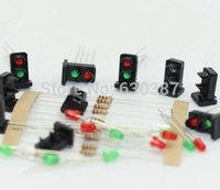 Wholesale JTD19 sets Target Faces With LEDs Railway Dwarf signal HO OO Scale Aspects