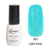 057 aqua nail - Kismart ml Soak Off UV Nail Gel Polish Color Gel LED Manicure Gel Light Aqua