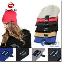 apple black hat - Hotsale Winter Bluetooth Hat Bluetooth V4 Stereo wireless earphone Speaker Microphone Handsfree For IPhone Samsung Galaxy S7 Music Hat