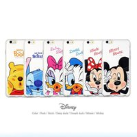 apple minnie - Iphone6 phone shell Apple s mobile phone sets plus plating soft shell Minnie Mickey cartoon explosion models