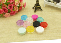cosmetic bottles and jars - 2g Small pods more color cream cosmetic container PS cream jar oz plastic bottle sample jar and packaging bottle