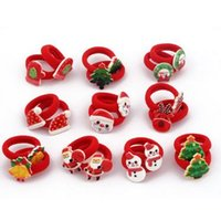 Wholesale Santa Claus Newest Lovely Novelty Christmas Hair ring Headwear Lovely Christmas Gift for Baby Girls or children