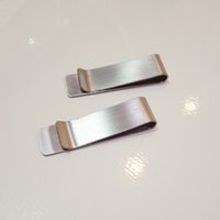 Wholesale stainless steel clip money clip the traveler notebook accessories