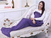 Wholesale Adult Handmade Mermaid Tail Blanket Crochet Mermaid Blankets Mermaid Tail Sleeping Bags Cocoon Mattress Knit Sofa Blankets