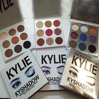 Wholesale Kyshadow Kit Kylie Jenner Pressed Powder Eye Shadow Palette Kylie Cosmetics the Bronze BURGUNDY Palette Waterproof Eyeshadow colors set