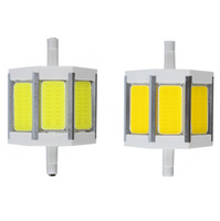 Wholesale R7S COB LED Corn Lamp mm W R7S led lights AC85 V Lampada Bulb Replace Halogen Lamp Bulb Floodlight Warm white White