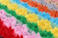 Wholesale Hot sale mini mesh fabric flower Newborn gift Flower hair band flower handmade party stage decorated flower chiffon fabric flower