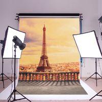 Precio de Vinil fondos de fotografía-5x7ft Vinilo París Torre Eiffel Fotografía Estudio Foto de estudio Fondo