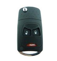 Recensioni Dodge nitro-Nuovo 2 + 1 Panic Button 3 flip Keyless Caso Shell chiave Fob pieghevole per Chrysler Jeep Dodge Ram 1500 Calibro Nitro Ram 2500 3500