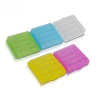 Wholesale New Fashion Plastic box Battery Box Storage Case Battery Holder Container Colorful For Battery DHL IB001