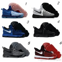 2016 Hot Sale KD 9 Chaussures de basket-ball pour homme KD9 Oreo Loup gris Kevin Durant 9s Sports pour hommes Sports Sneakers Warriors Taille de la maison US7-12