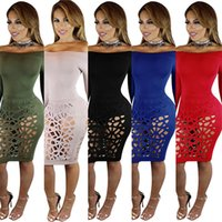 Wholesale Short Beige Evening Dress - Sexy dresses Womens Bodycon Club Evening Party Cocktail Sexy Short Mini Dress Casual Dresses Backless Slim Dress Ladies Women's Clothing