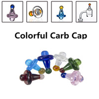 Wholesale 2017 Colorful New style Universal Solid Colored glass UFO carb cap dome for glass water pipes dab oil rigs Quartz banger Nails