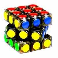 Wholesale YJ Transparent Magic Cube x3x3 Speed Puzzle Cube Game Dot Shape Cubos Magicos Professional Puzzle Game Racing Kids Toys Gifts
