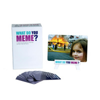 12-14 Years baseball card stock - In Stock What Do You Meme Party cards game for friends for the social media generation Adult Board Funny Game