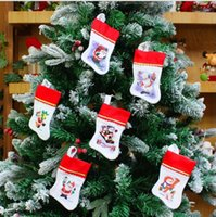 Wholesale Christmas Stockings Decorations Santa Snowman Stocking Xmas Home Decorations cm Hight Best Gifts for Christmas