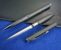 Wholesale Carbon fiber tactical hidden knife pen serrate in stainess steeel blade outdoor gadgets self defense tactical survival pen