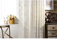 Купить Современные шторы панели-занавес с европейским стилем дизайна жаккардовые украшения дома современные тюлевые ткани органзы окна панели явный