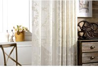 Wholesale curtain with European style jacquard design home decoration modern tulle fabrics organza sheer panel window